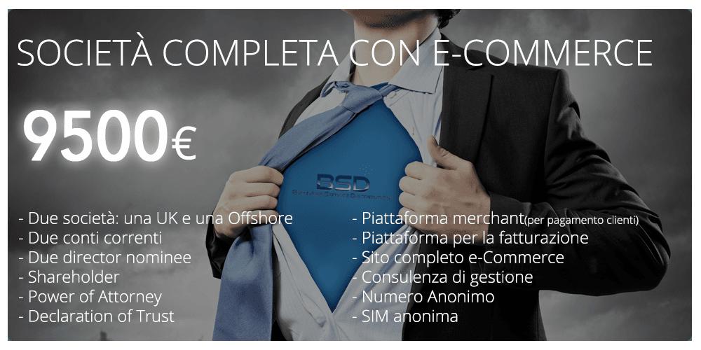 società osìffshore completa con e-commerce